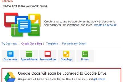 从计算机网络化的角度,探讨Google推出Drive并淡化Docs过程中可能的必然