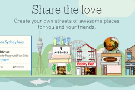 借用UGC歌单的思路,手绘风格的Posse让你可以自建街道,收录一系列商铺