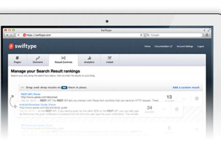 让网站主创建可定制化的站内搜索引擎,Swiftype融资170万美元