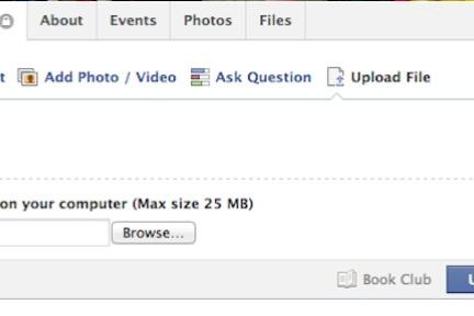 Facebook小范围推出文件分享功能,用户可以在群组中上传最大25M的文件