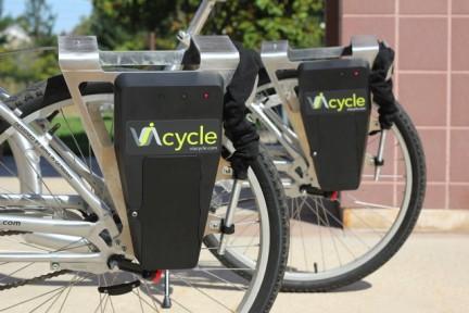 不用担心单车被盗,结合手机app的ViaCycle为城市和公司、校园园区提供自行车租赁服务