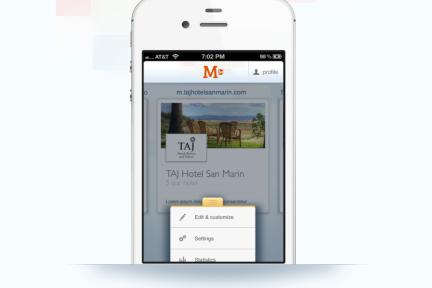 M.dot:无编程零基础,用手机app也能建专业的商业移动网站