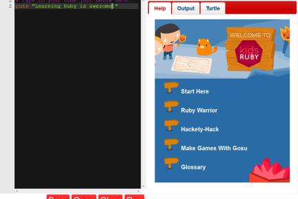 KidsRuby:让孩子忘掉科学竞赛,现在就学习编程
