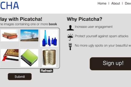伯克利大学学生开发图片验证码Picatcha终结文字验证码CAPTCHA