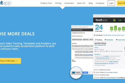 邮件追踪服务商ToutApp获1500万美元B轮融资,欲打造整合型营销神器