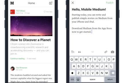 Medium iOS推移动写作功能,可以随时简单写作了