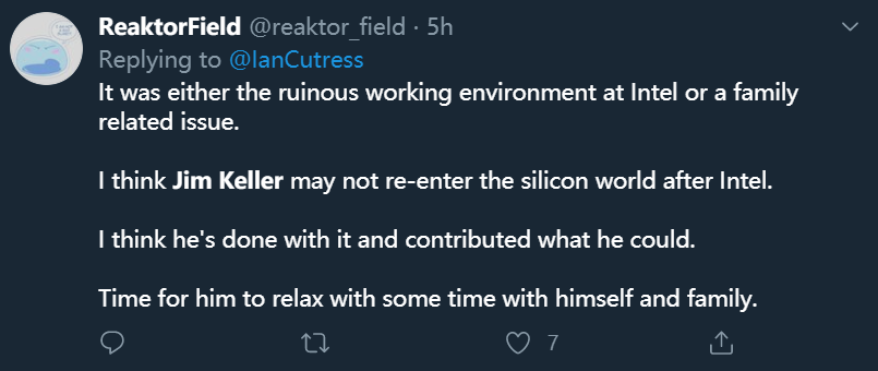 """""""硅仙人""""离开英特尔:芯片总设计师吉姆·凯勒突然辞职,曾带领AMD、苹果逆袭 (/) 科技 第8张"""