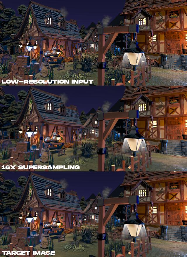 潮科技   Facebook宣布神经超采样实时渲染,实现VR低清图像实时转高清