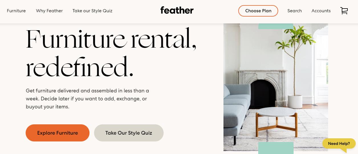 家具租赁市场正火热,「Feather」获 3000 万美元融资