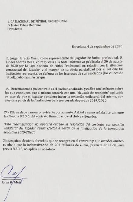 梅西团队声明:7亿违约金条款无效
