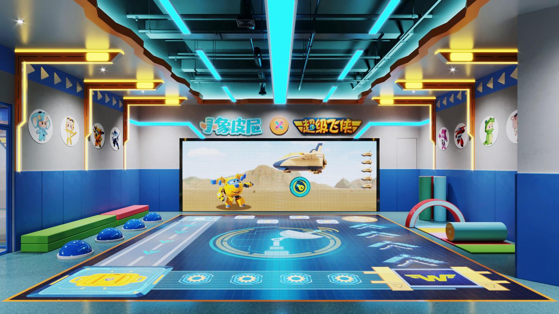 让教育开店更简单,「小象皮尼」为儿童提供双屏互动嘅游戏化体能培训课程
