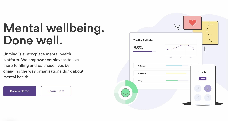 专注于工作场景心理健康,英国创投公司Unmind获得4700万美元B轮融资