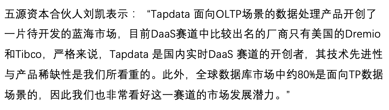 36氪首发 面向TP业务打造实时数据服务平台,「Tapdata」完成千万美元Pre-A 轮融资