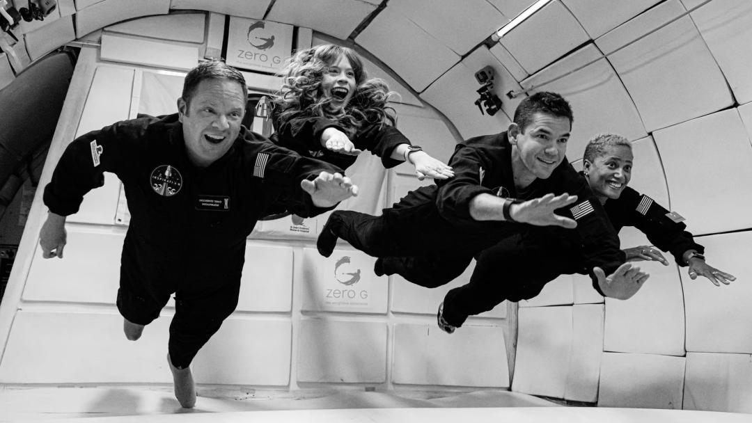 """SpaceX首次载人太空商飞,助4人""""平民""""团绕地飞行3日,目标轨道高ISS160公里"""