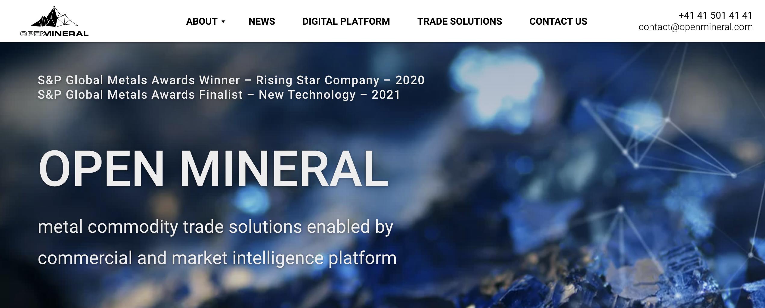 国外创投新闻 | 区块链助力金属交易,瑞士线上平台Open Mineral获3300万<em>美元</em>C轮融资