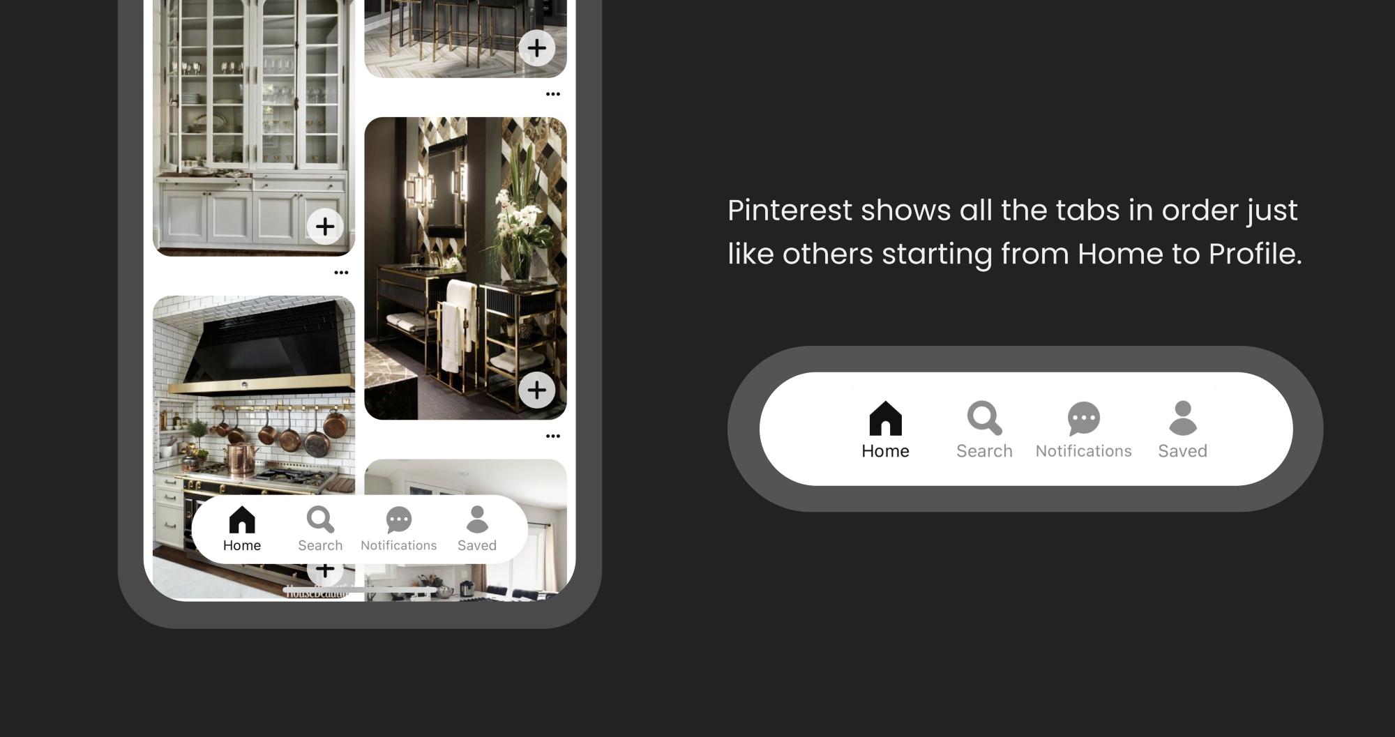 如何设计底部导航栏?看看TikTok、Youtube、Pinterest是怎么做的